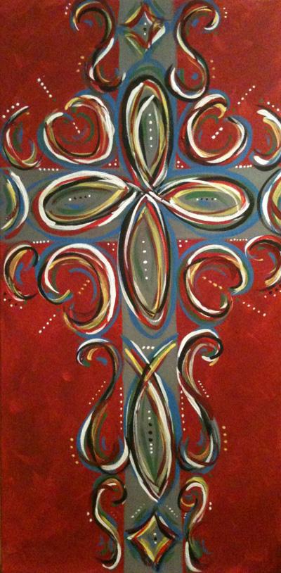 Fancy Cross Painting